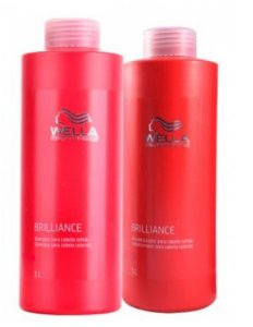 Wella Professionals Brilliance Combo Shampoo e Condicionador 1000ml-Fab Wella Cosméticos