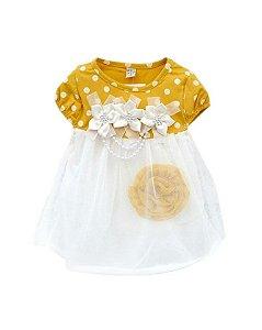 Vestido De Bebe Branquinho Para Batizado Festa E Casamento