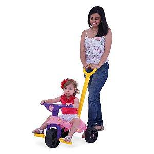 Triciclo Fadinha Com Empurrador Xalingo Brinquedos