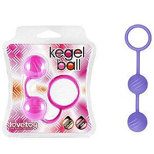 Bolinhas para Pompoarismo - Kegel Ball - em Silicone com Relevo - Cor Roxo