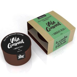 Vela Gourmet para Massagem Corporal Sabor Chocolate Belga