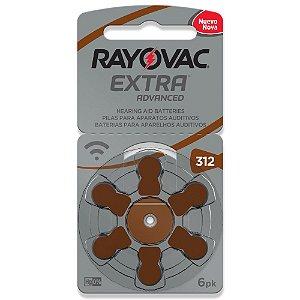 Bateria Auditiva Rayovac Tamanho 312 Cartela c/6unid