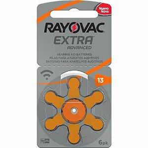 Bateria Auditiva Rayovac Tamanho 13 Cartela c/6unid
