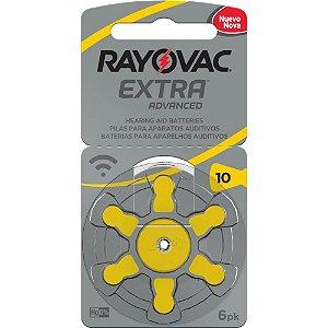 Bateria Auditiva Rayovac Tamanho 10 Cartela c/6unid