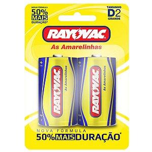 Pilhas Zinco Rayovac D (grande)  - 1 Cartela com 2 Pilhas
