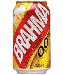 Cerveja Brahma Zero Lata 350ml com 12 unidades