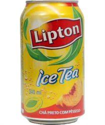 Lipton Ice Tea Pêssego Lata 340ml com 12 unidades