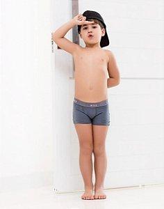 CUECA BOXER KIDS COTTON KIT COM 3