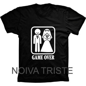 Camiseta Game Over Noiva Triste