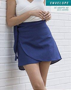 Saia Envelope Tulipa Azul