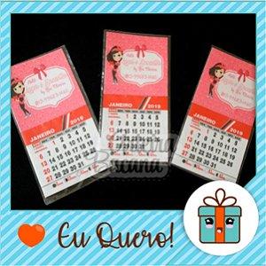 Mini calendário  personalizado com imã