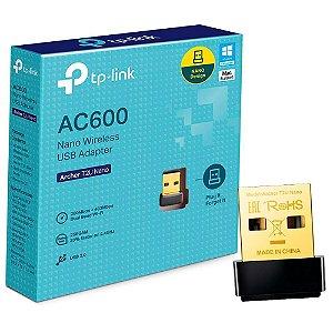 Adaptador Wireless TP-Link AC600 Nano USB Archer T2U