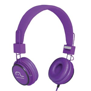 HEADFONE C/ MICROFONE HEADFUN MULTILASER PH090 ROXO