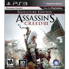 ASSASSIN.S CREED 3 SIGNATURE EDITION  usado PS3