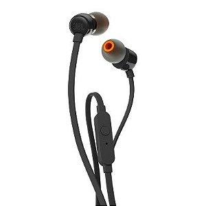 Fone De Ouvido in-ear Com Microfone Preto Jblt110blk