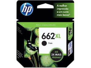 cartucho original hp 662xl preto - cz105ab