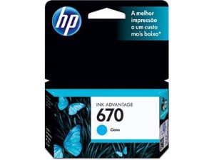 Cartucho Original Hp 670 Ciano Cz114ab