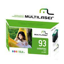 CARTUCHO MULTILASER 93 CORES HP CO093