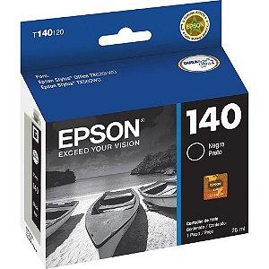 CARTUCHO ORIGINAL EPSON 140 BLACK - T140120  P/ T42/TX560/TX620