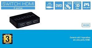 SWITCH HDMI 3 EM 1 MULTILASER WI290