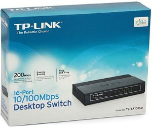 Switch 16 portas tp-link mod tl sf1016d 10/100