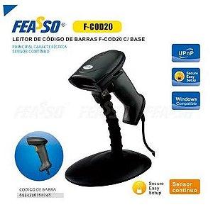 Leitor de mão feasso f-cod20 c/ base e sensor continuo
