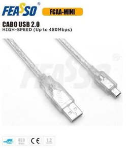 Cabo Usb Mini Usb Feasso Fcaa-mini 1.2m