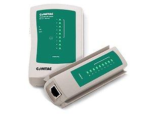 Testador de cabos rj-45 / rj-11 comtac 9220