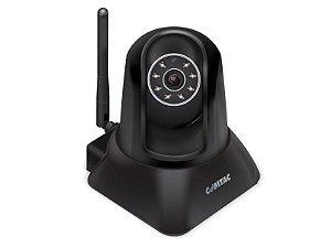 Camera Ip Vga Wifi Com Ptz Preta Comtac 9267