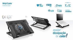 Notebook cooler table. Vertical multilaser ac166