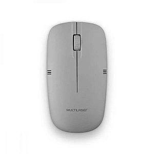 Mouse sem fio multilaser 2.4ghz cinza usb mo287