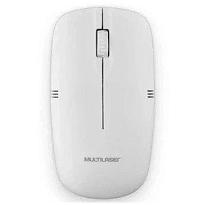 Mouse Sem Fio Multilaser 2.4ghz Branco Usb MO286