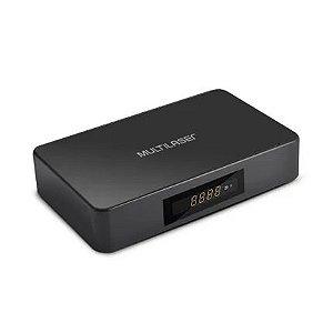 Smart tv box hibrido android + converter 1gb ram+ 8gb flash