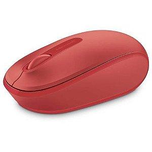 Mouse sem fio mobile usb vermelho microsoft  u7z00038