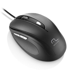 MOUSE COMFORT 6 BOTOES PRETO USB MULTILASER MO241