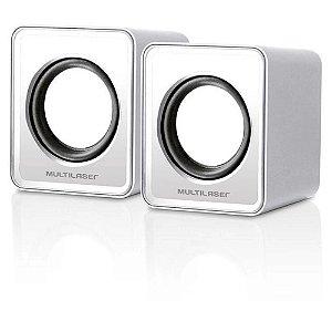 Caixa De Som 2.0 Mini 3w Rms Branco Sp199