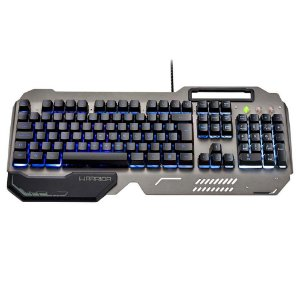 Teclado gamer warrior ragnar superficie em metal led tc222
