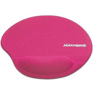 mousepad com apoio de gel rosa maxprint