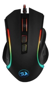 MOUSE GAMER REDRAGON GRIFFIN PRETO COM LED RGB M607