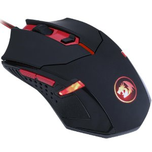 Mouse gamer redragon centrophorus v3 led red 3200dpi