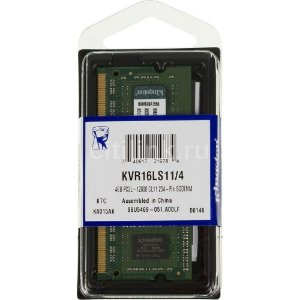 Memoria ram notebook ddr3 4gb kingston 1600 mhz kvr16ls11/4