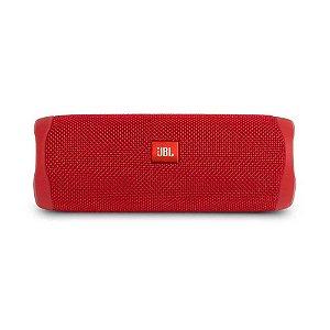 Caixa De Som Jbl Flip 5 Bluetooth 20w Rms Vermelha