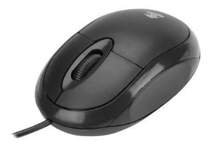 Mouse óptico usb office 5+ preto 1000dpi