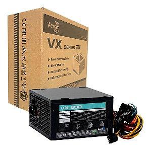 Fonte Aerocool Atx S/cabo 500w Vx-500 Bivolt Box