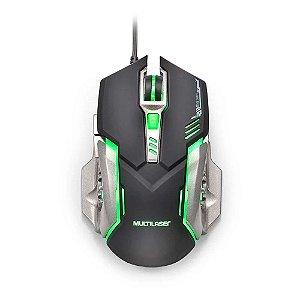 Mouse Gamer Multilaser 2400 Dpi Preto E Grafite Mo269