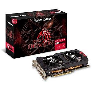 Placa De Video Amd Rx 570 4gb Red Dragon Power Color