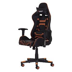 Cadeira Fx Gamer Preta Com Laranja Fda5085prlr