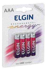 Pilha Recarregavel Elgin C/4 Aaa 900mah