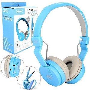 Headphone Com Microfone Plug P2 De 3,5mm Knup Kp-428