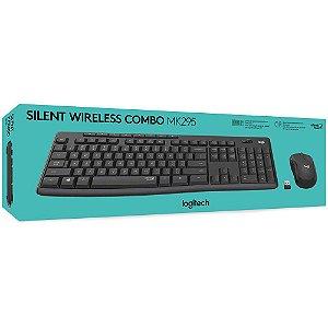 Combo Teclado e Mouse Sem Fio Logitech Mk295 Silent